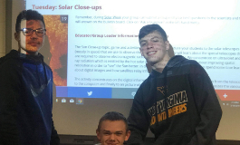 Science class learning about Solar Week.