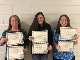 WV PBL State Leadership Conference certificates