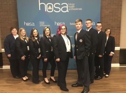 Group of Students attending HOSA