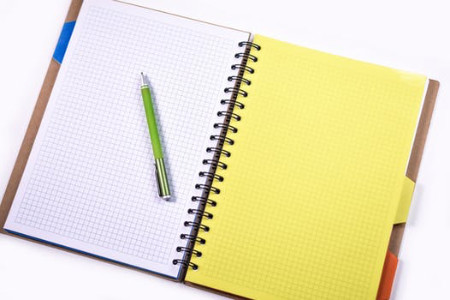 image of a notebook and pen