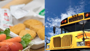 picture of lunch and school bus