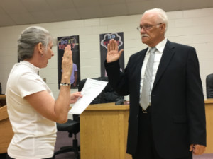 Preece sworn in